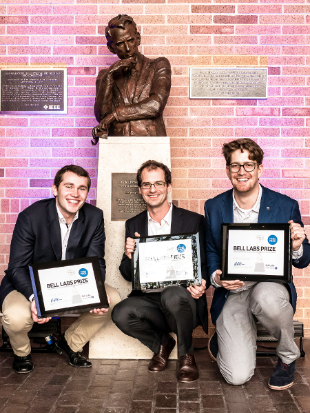 Bell Labs Prize 2015 third prize winners Georg Böcherer, Fabian Steiner, and Patrick Schulte